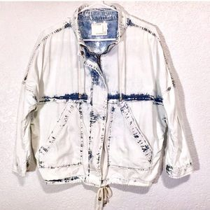 life in progress Jackets & Coats - Life in Progress Acid Wash Denim Jacket Parka